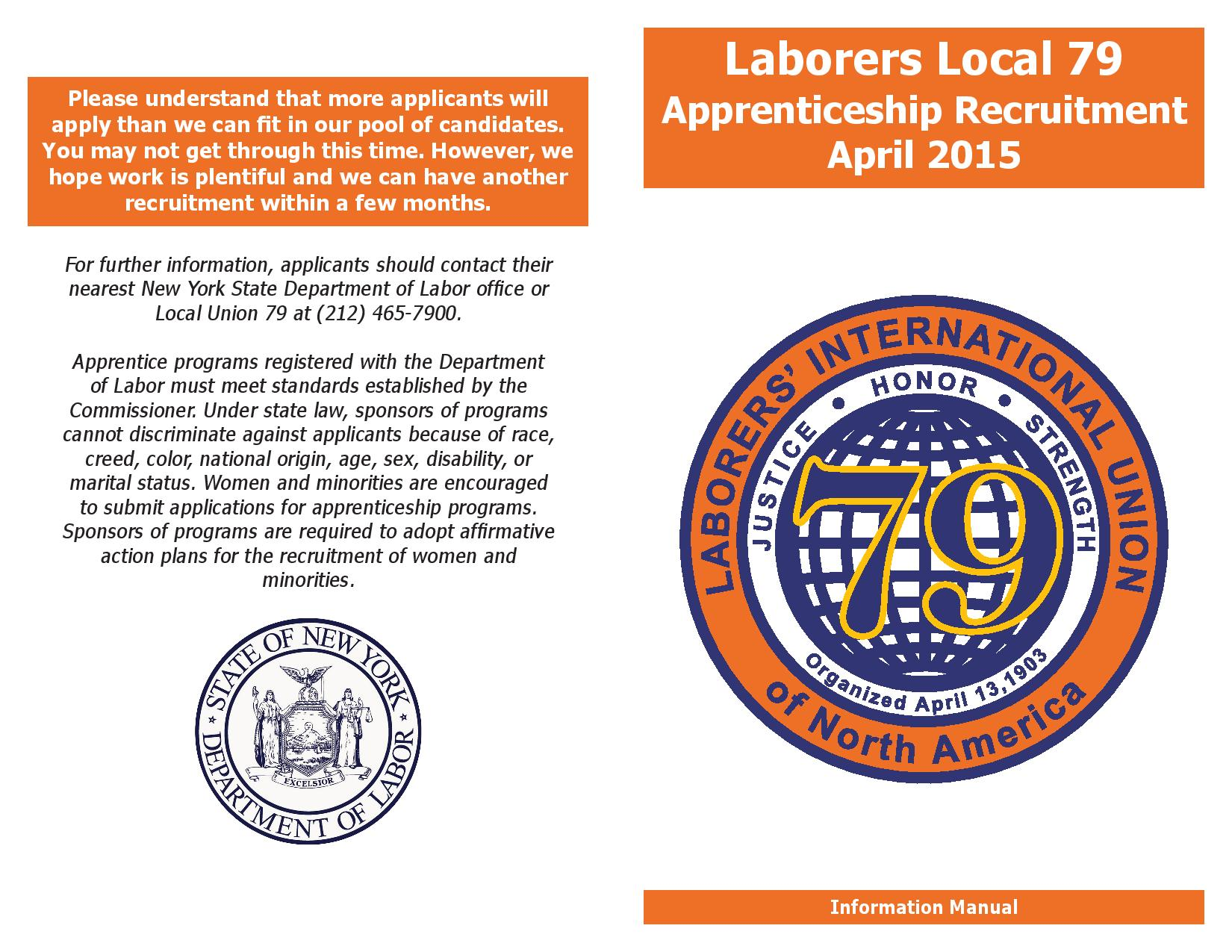Laborers Local 79 Now Recruiting Apprentices | New York City