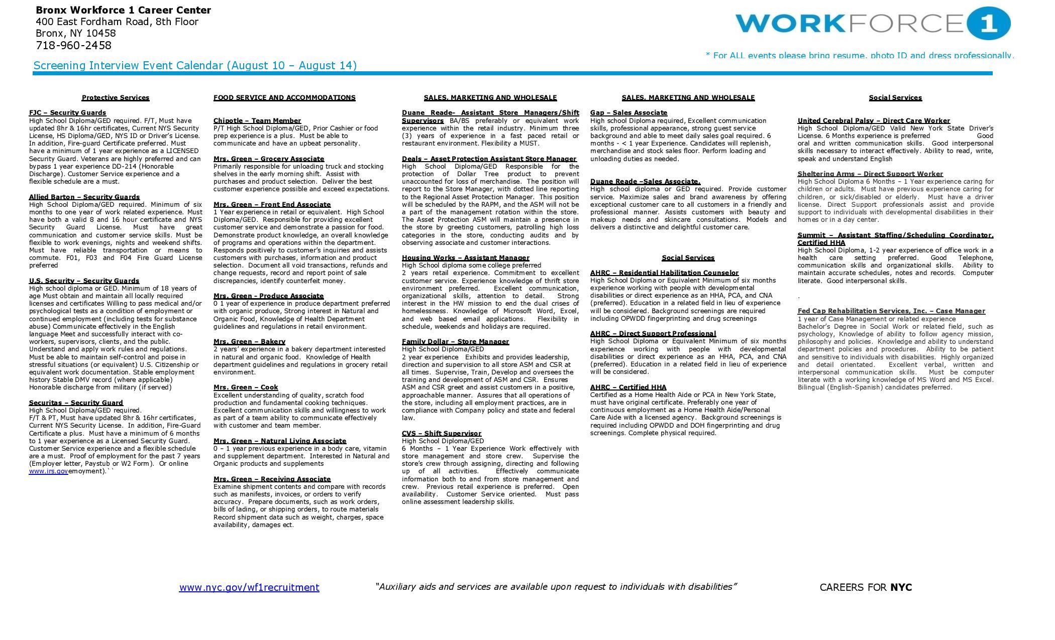 Employment | New York City Council Member Fernando Cabrera | Page 5