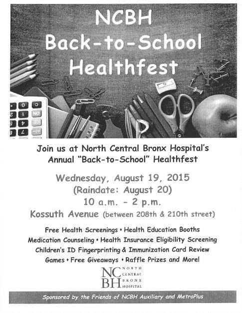Back To School Healthfest 8 19 New York City Council Member Fernando Cabrera