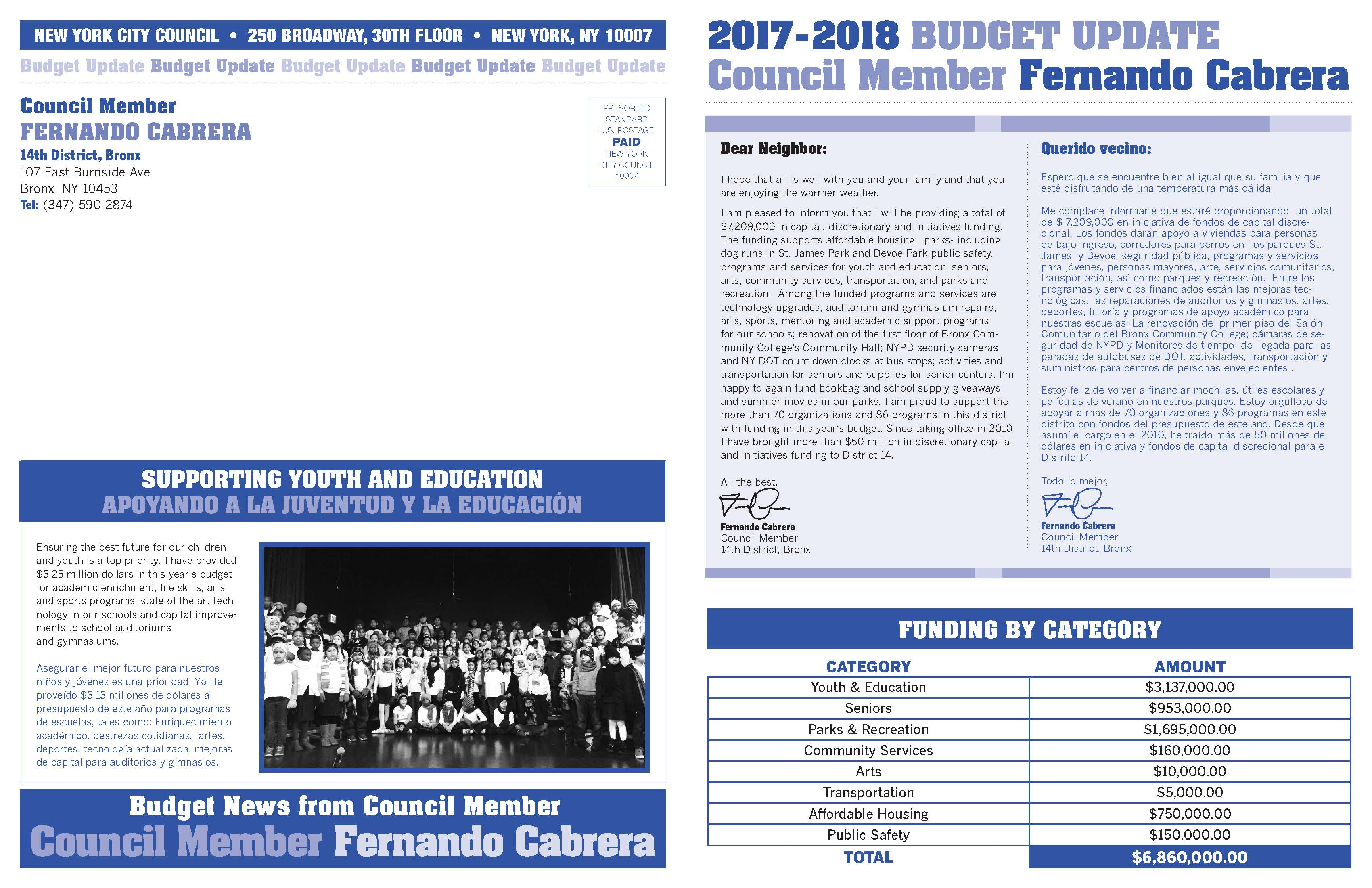 New Budget Brings More Funding to District 14   New York